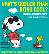 Snoopy Library Card Sign Up Month
