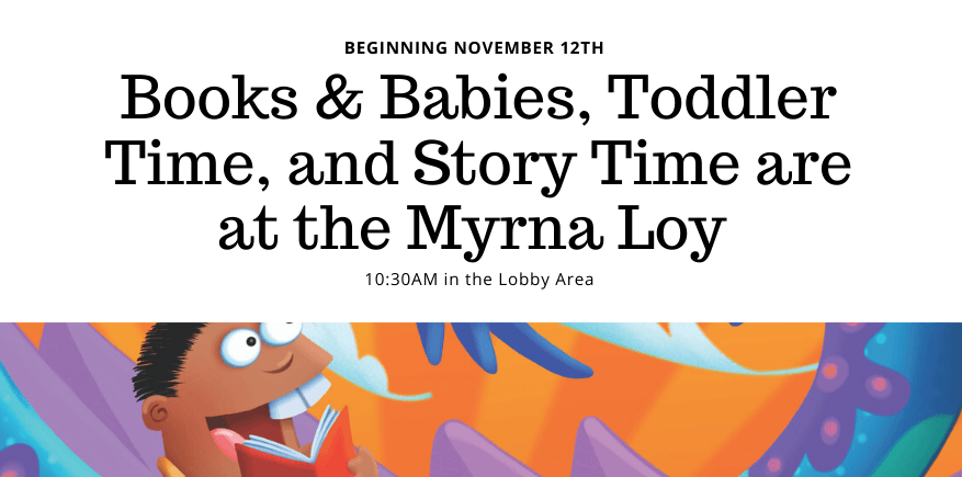 Books and Babies at Myrna Loy