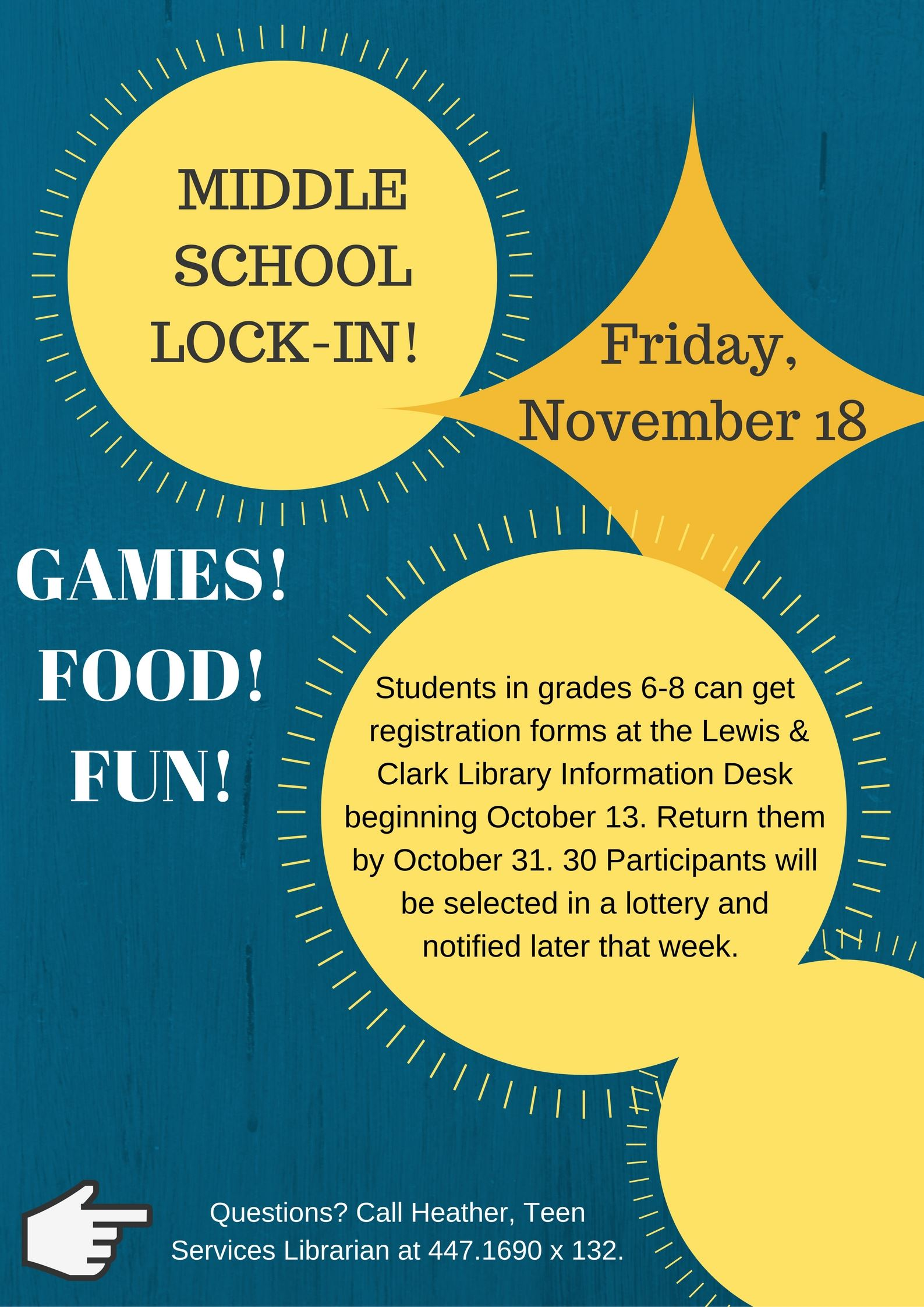 MIDDLE SCHOOL LOCK-IN!